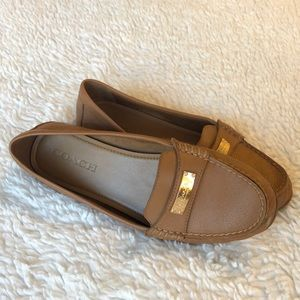Coach Brown Leather Loafers (8.5)